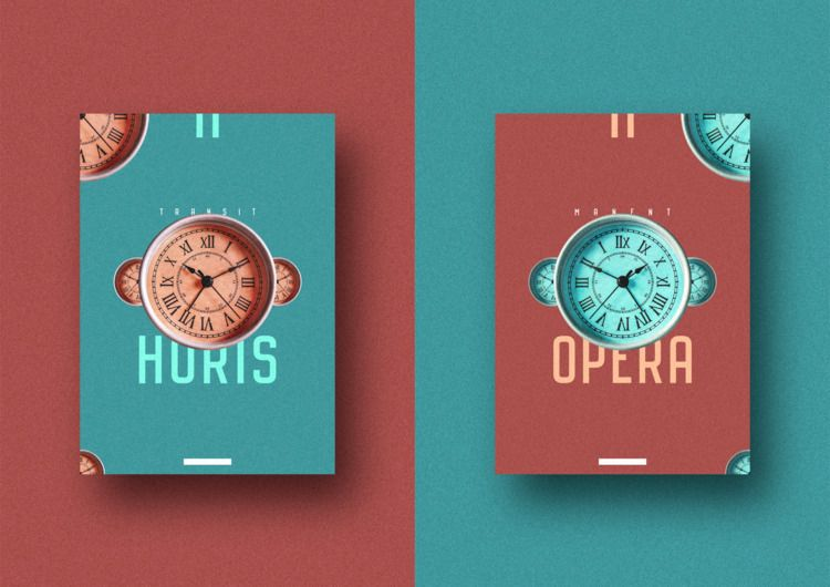 TIME - design, graphic, clock, vintage - vissotto | ello