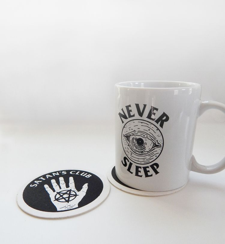 Coasters Mugs Monday  - neversleep - hungryghostpress | ello