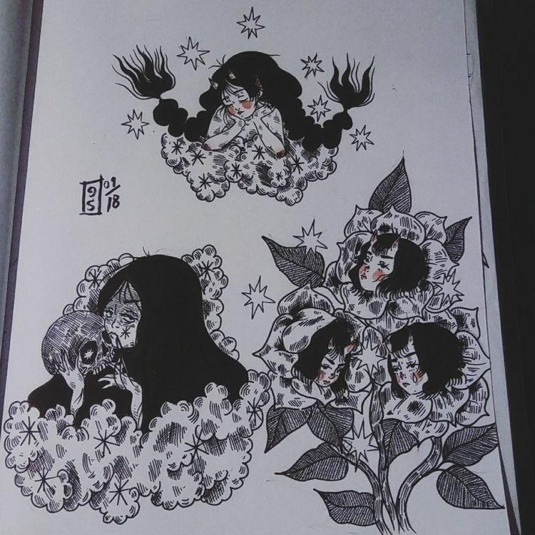 01/18 wont reposting work  - ink - heartsighx | ello