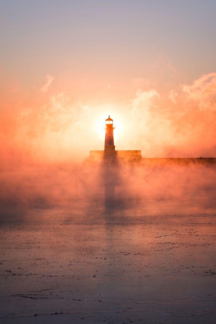 stunning sunrise sea smoke Dulu - tbrastad | ello