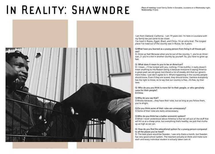 REALITY: SHAWNDRE Reality serie - onibirden | ello