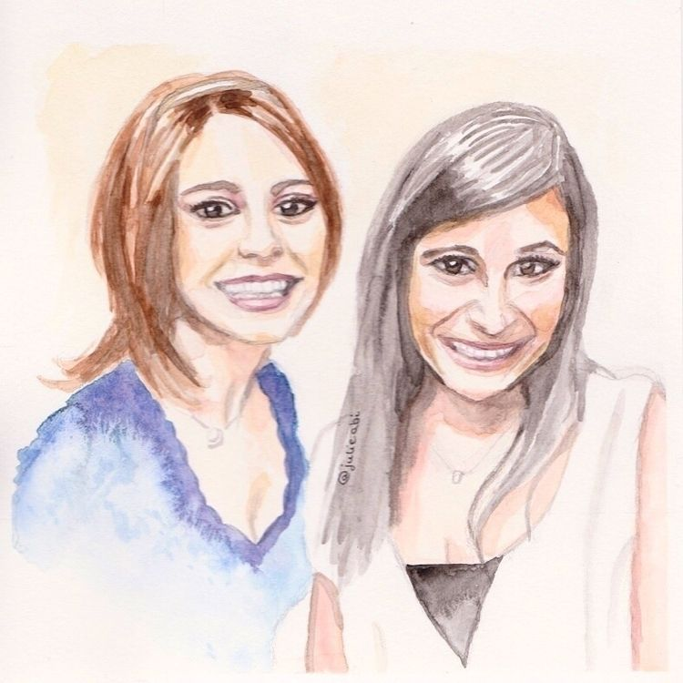 Watercolor portrait sisters - julieabi | ello