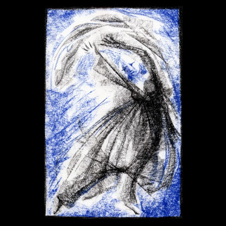dancer blue - illustration, drawing - ckrabbe | ello