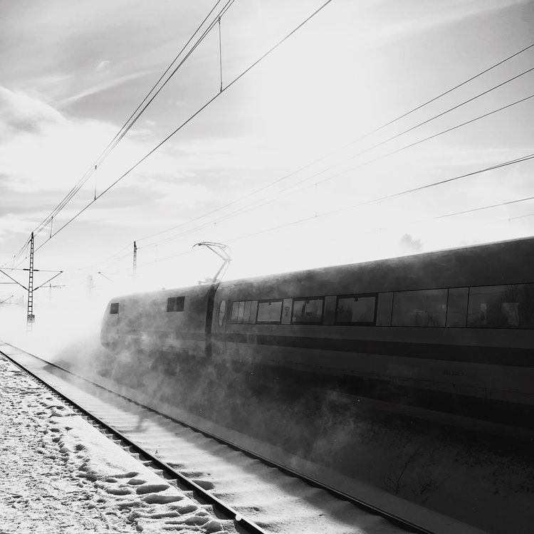 ICE Train Snow - blackandwhitephotography - sandraschink | ello