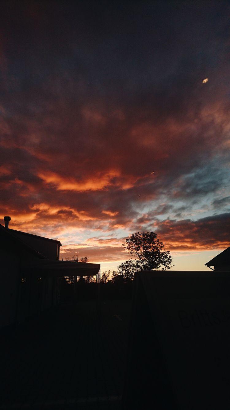 sky, sunset - themoonlitroad | ello