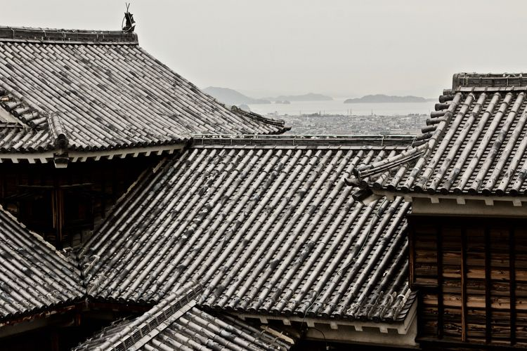 Burg Matsuyama Ehime - rooftiles - hannesb | ello