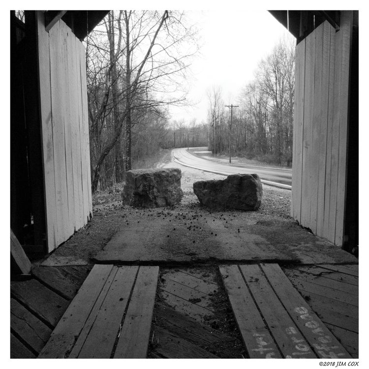 Curve Covered Bridge - blackandwhitephotography - jascox | ello