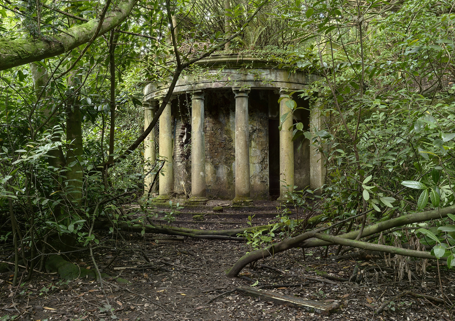 ruined classical colonnade long - forgottenheritage | ello