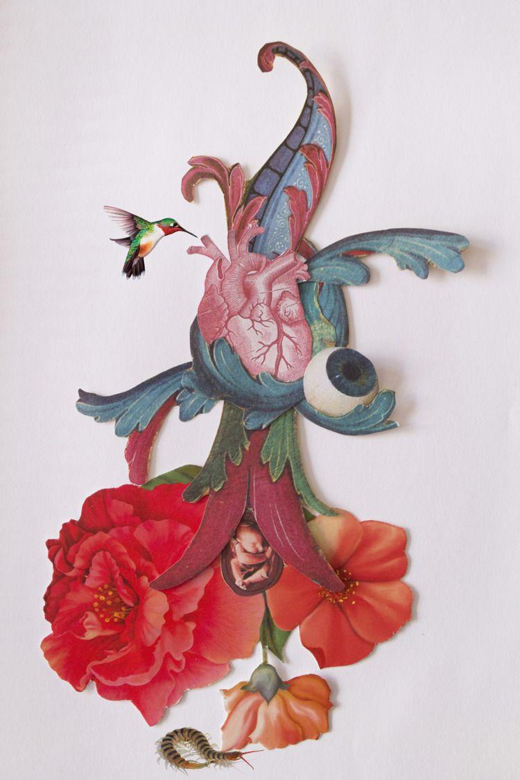 Flower Life - collage, flower, eye - franalvez   ello