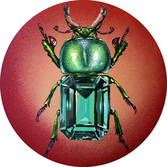 Emerald Stag. Acrylic 10 diamet - bowenstuff   ello