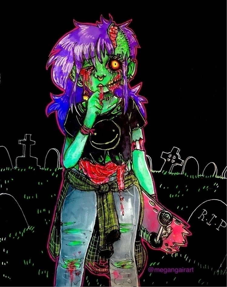 Zombie inktober 2017 :skull:🧠:c - megangairart | ello