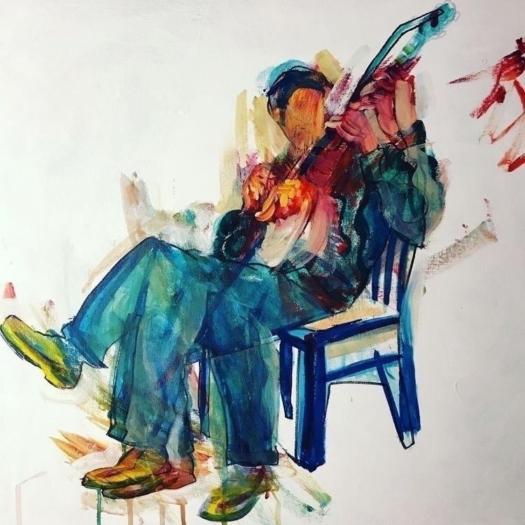 Portrait banjo player acrylic c - nickapple | ello