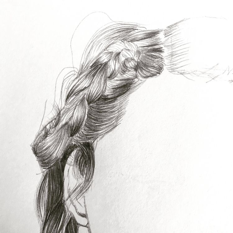 hair doodles - art, artist, drawing - garvoids | ello