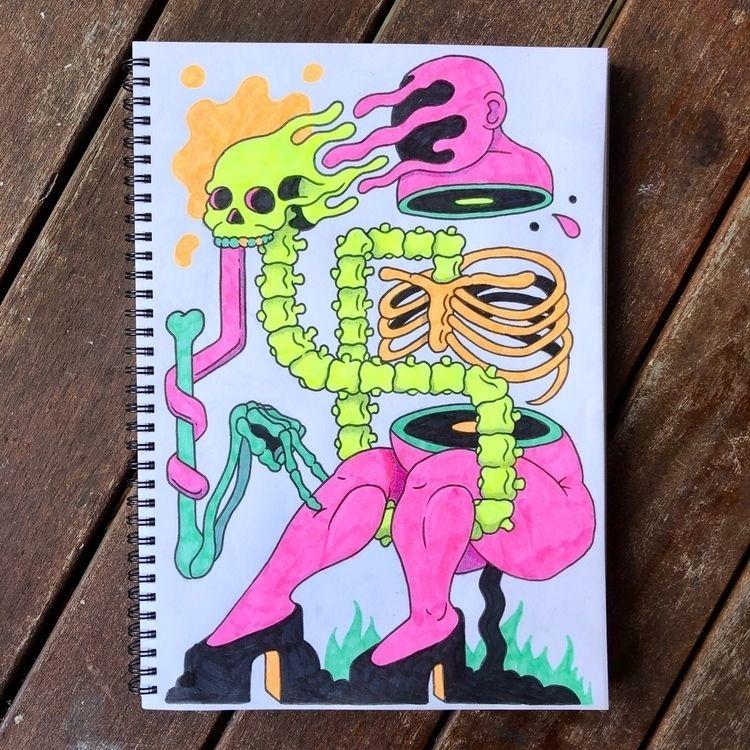 sketchbook - drawing, highlighter - bakedlab | ello