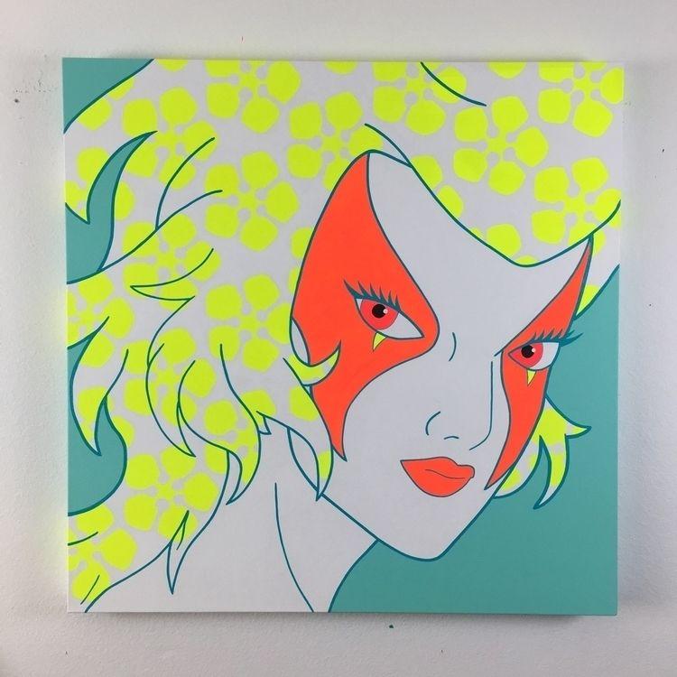 Hair Flowers • acrylic canvas 3 - speczacular | ello