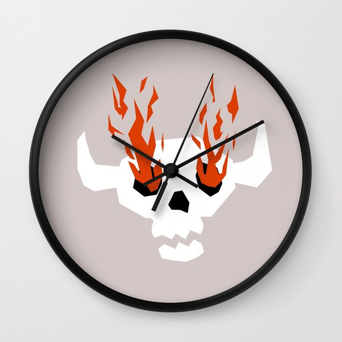 fire!  - hot, clock, time, art, illustration - sofiasantos | ello