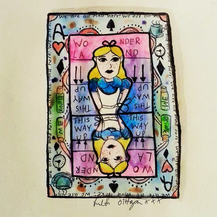 Alice Wonderland watercolour - painting - ruthohaganartist | ello