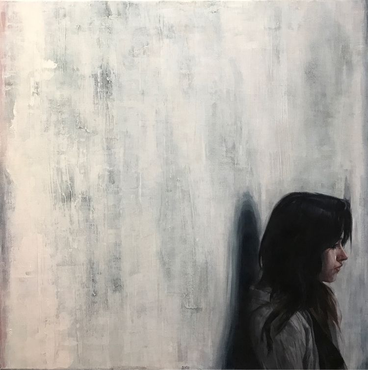 «Blue shift - painting, oilpainting - bryhn | ello