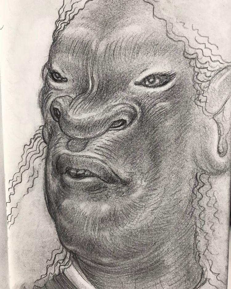 Morning face - drawing, sketch - leestroyer | ello
