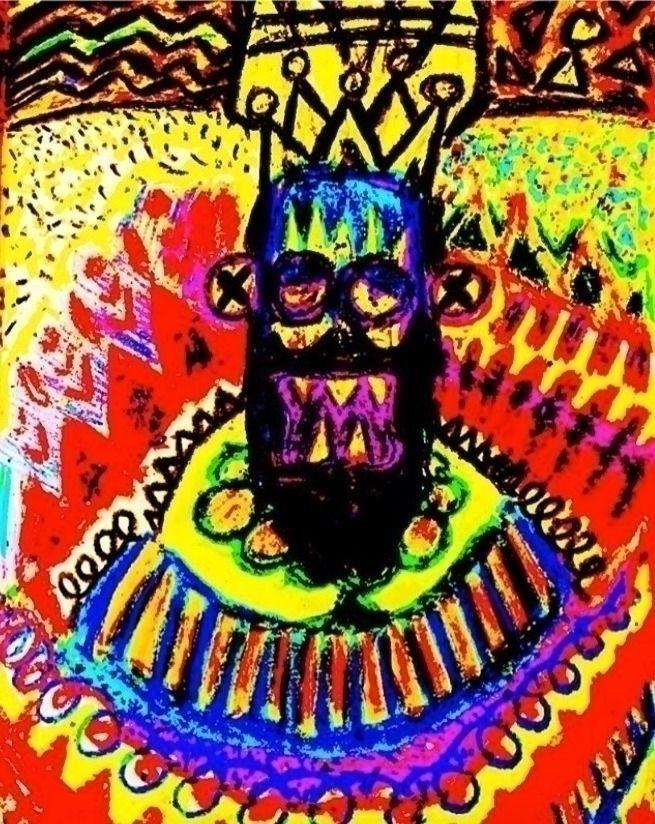 Portrait Mad King (Sketch) Dece - yocalvi | ello