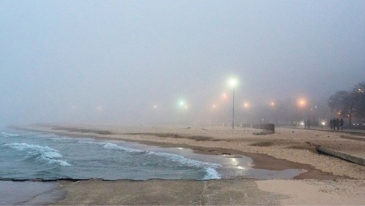 fog, foggy, foggyday, beach, chicago - dvb_photo_life | ello