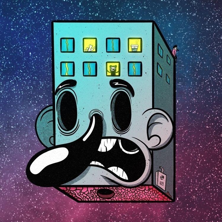 Space Face Hotel!  - art, artist - zackrussellart | ello