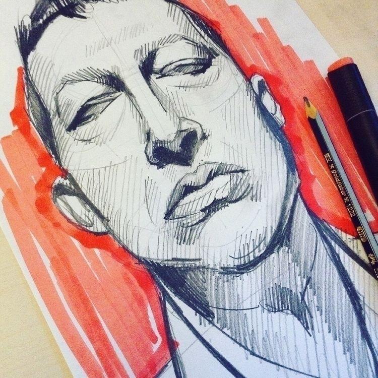 Sketching man Karim Rashid - sketch - dashapivovarova | ello
