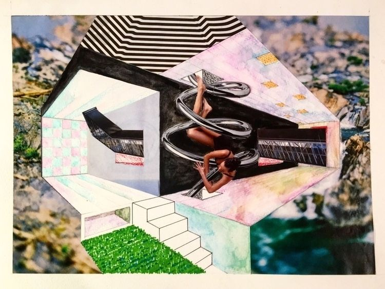 """Mind Architecture - collage, mixedmedia - sarah_pdgm 