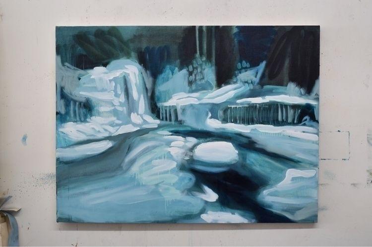 Wentworth Falls Acrylic, oil sp - hailey_guzik_ | ello