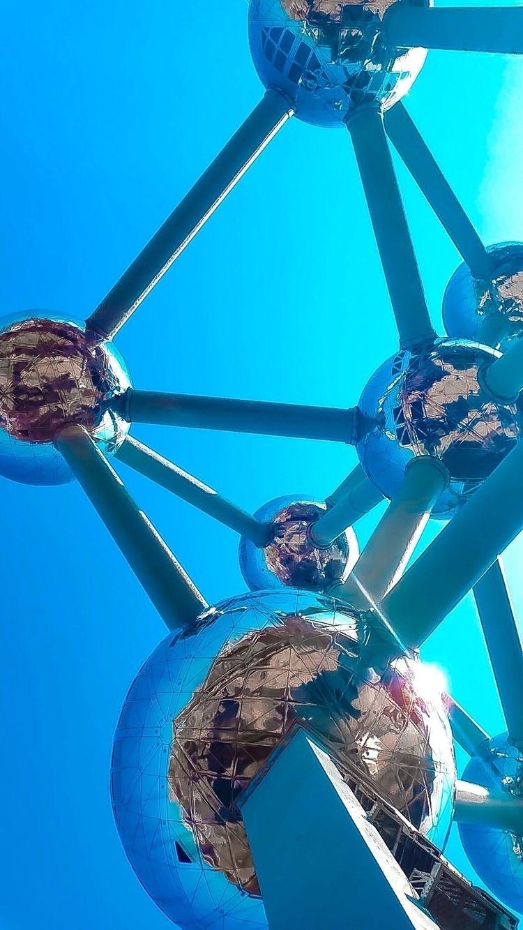 blue, atomium, love, brussels - nataliagc100 | ello