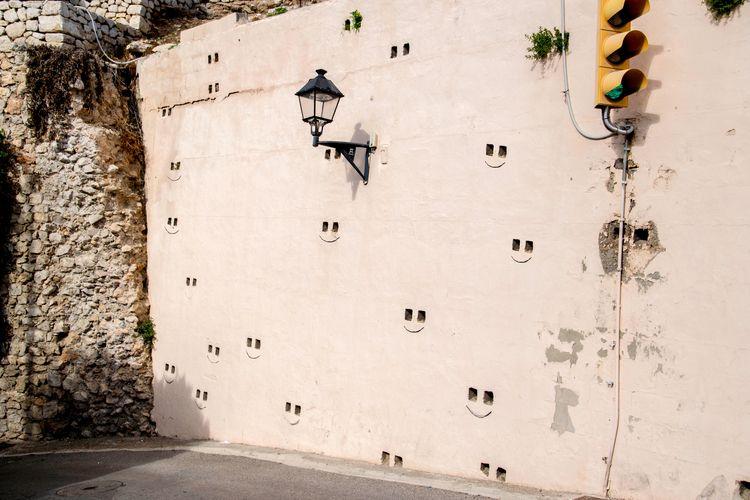 Smiley face wall. Spain, Ibiza - nayeemzia | ello