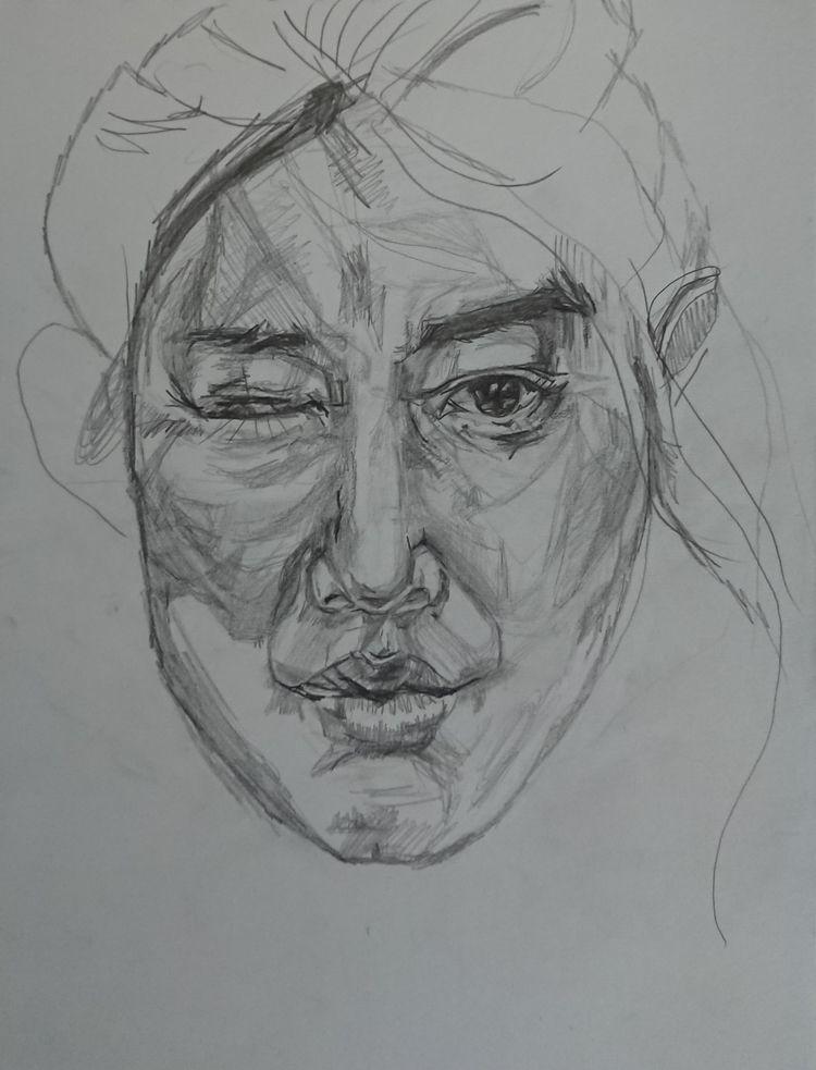 Wip, sketching, analogdrawing - major_town   ello