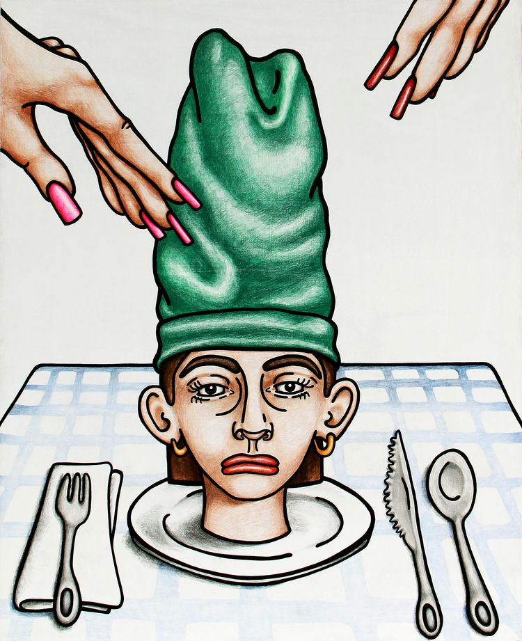 Dinner Party, colored pencil ac - samantharosenwald | ello