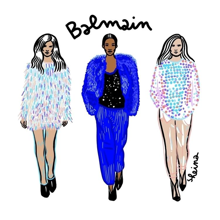 3 favorite yesterday Balmain fa - sheina-illustration | ello