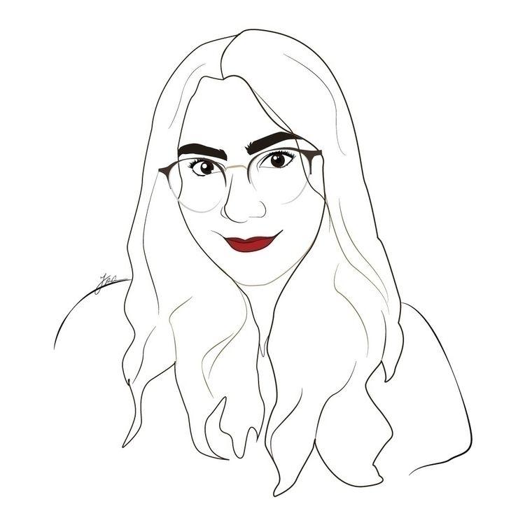 Outline portrait making - illustration - jenifferrivera | ello