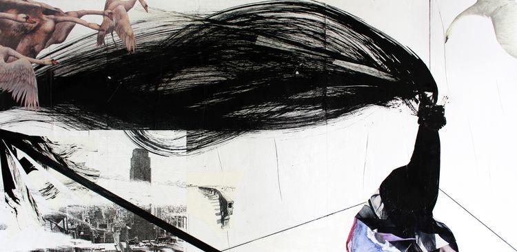 Lucinda Void Collage, ink, elec - precog80   ello