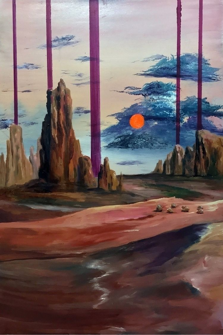Desert Daydream. 18x24. Oil. Bi - specters | ello