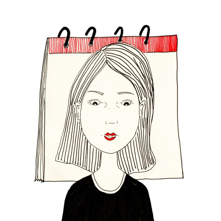 piece paper tear calendar - illustration - nigli | ello