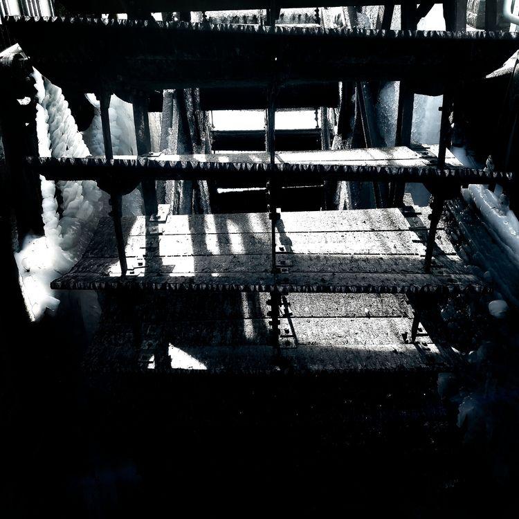 Ice mill wheel - blackandwhite, monochrome - klausheeskens | ello