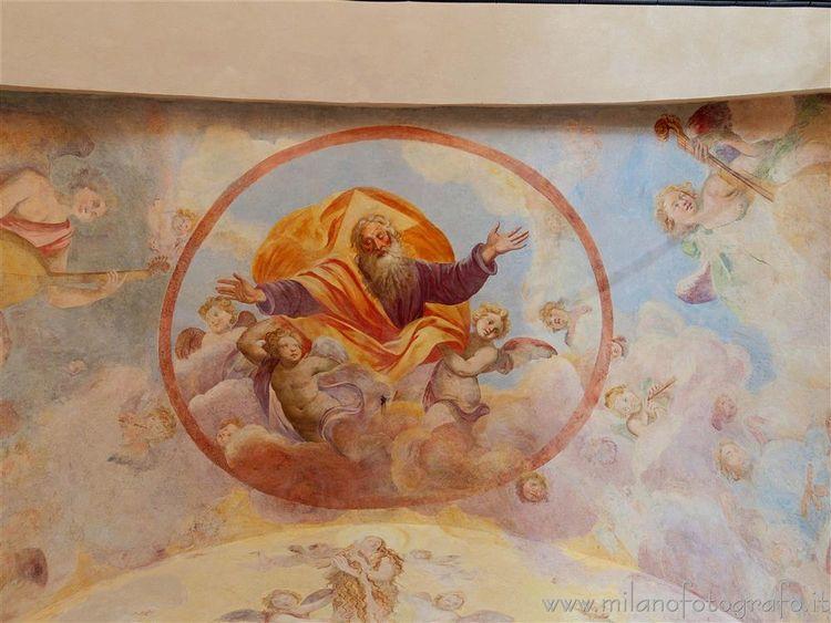Milan (Italy): Ceiling apsis Or - milanofotografo | ello
