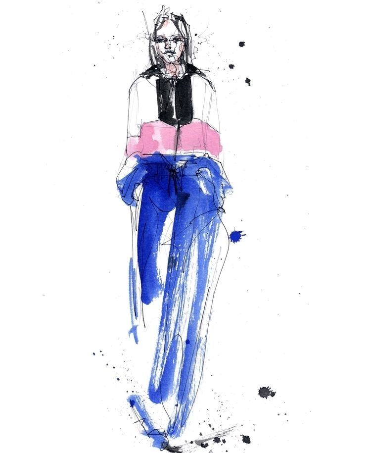 MSGM FW18  - fashion, illustration - ibreathart | ello