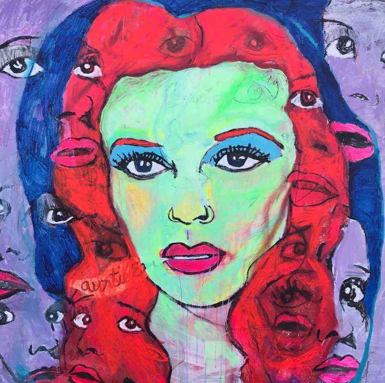 Dorothy 60x60in acrylic canvas - wayneello1 | ello