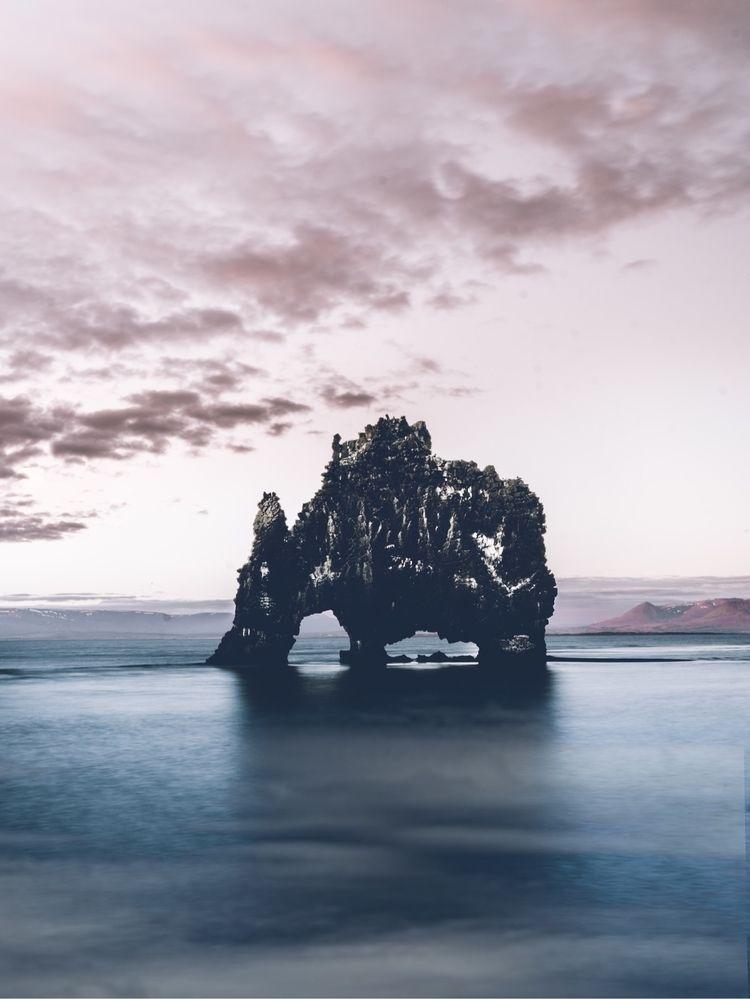 Drinking Rock | Hvítserkur - landscape - urbandiaries | ello
