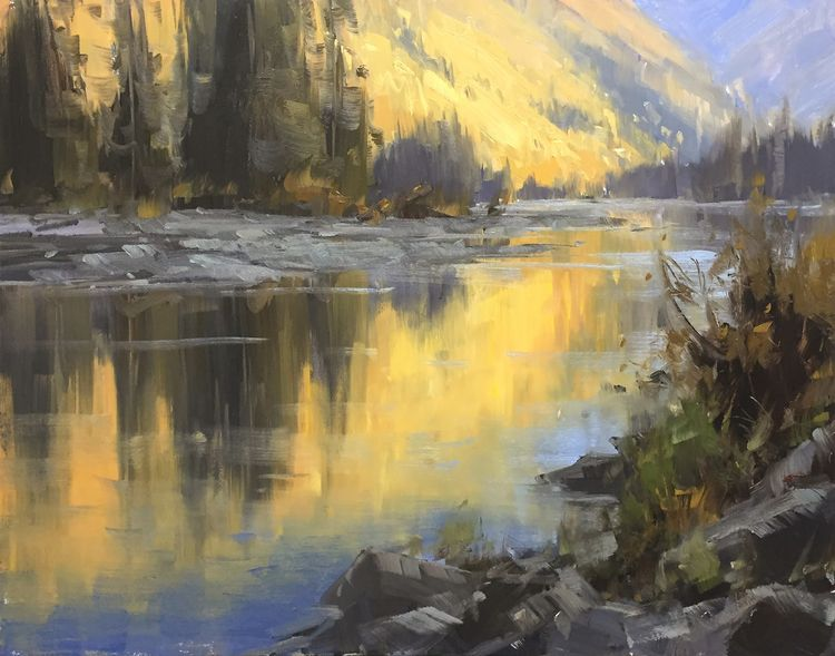 Light, McDonald Creek - Oil Pan - staceypetersonfineart | ello