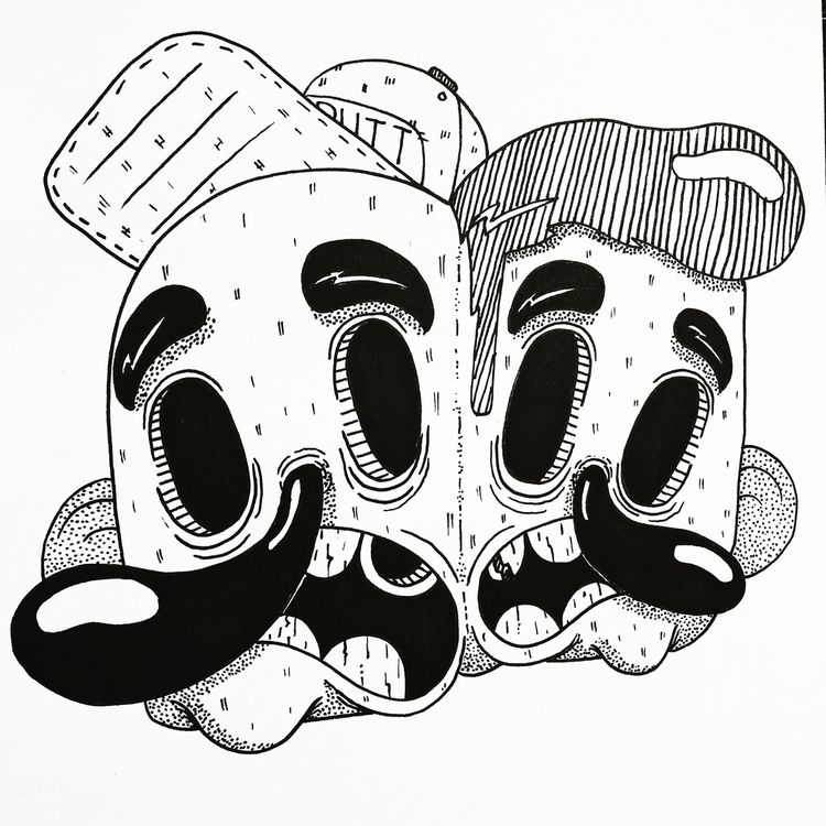 ink illustration bit.  - art, artist - zackrussellart | ello