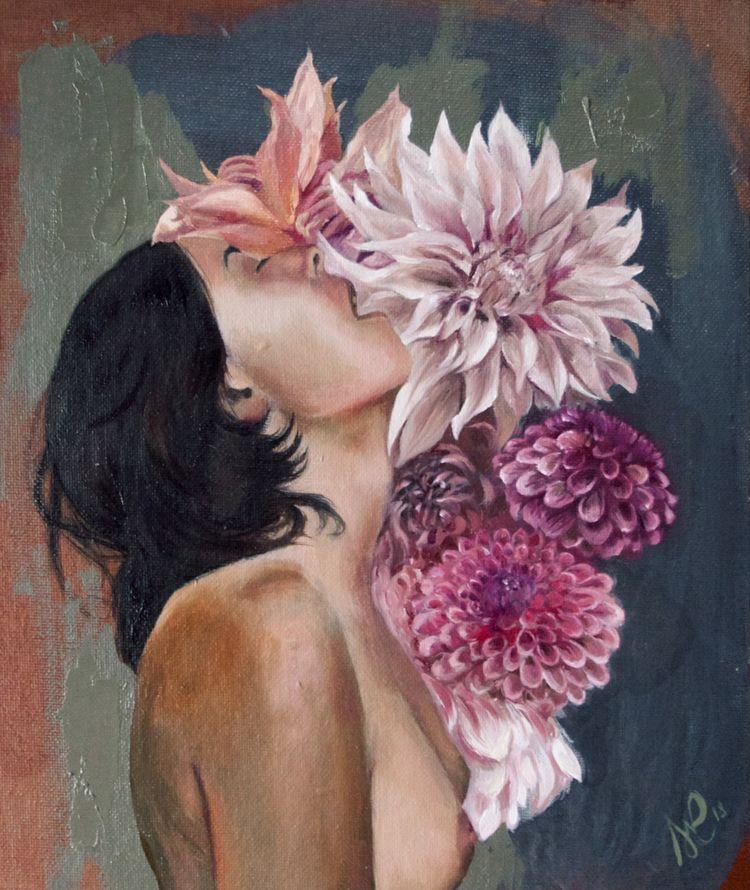 Blossoming Oil Acrylic Canvas  - stephanierosefreeman | ello