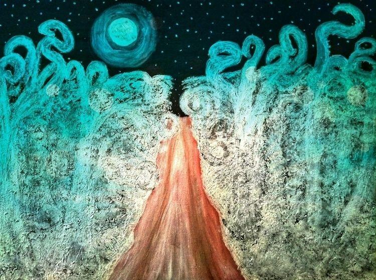 Ambient Winters Night - painting - roanemermaid | ello