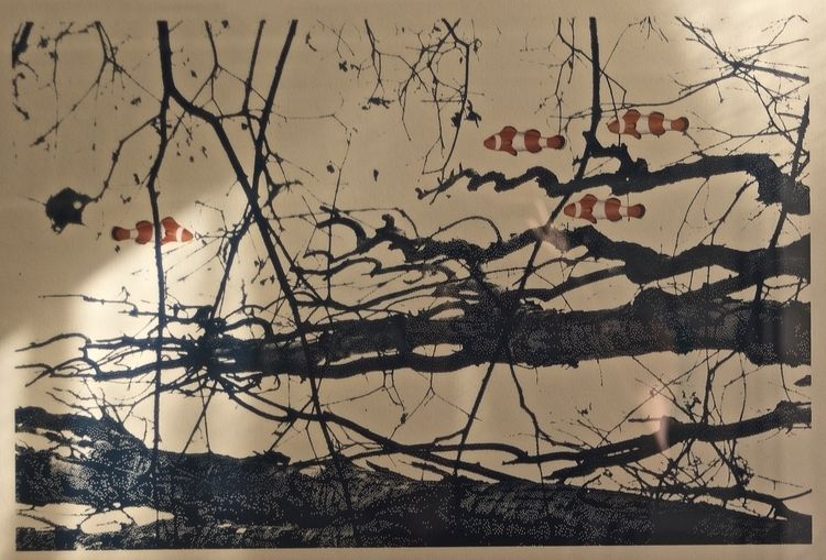 silkscreen-collage Mondbaum Wer - hana_sitsheaven | ello