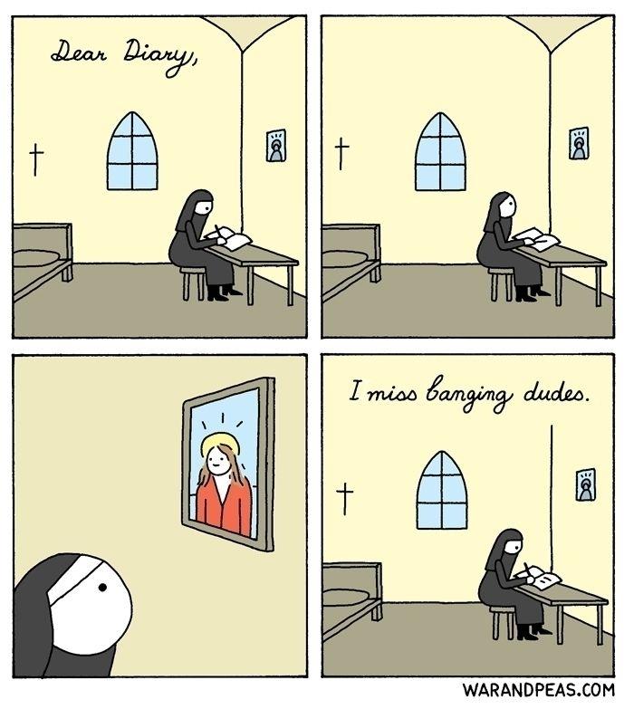 Unholy Thoughts - comic, webcomic - warandpeas | ello