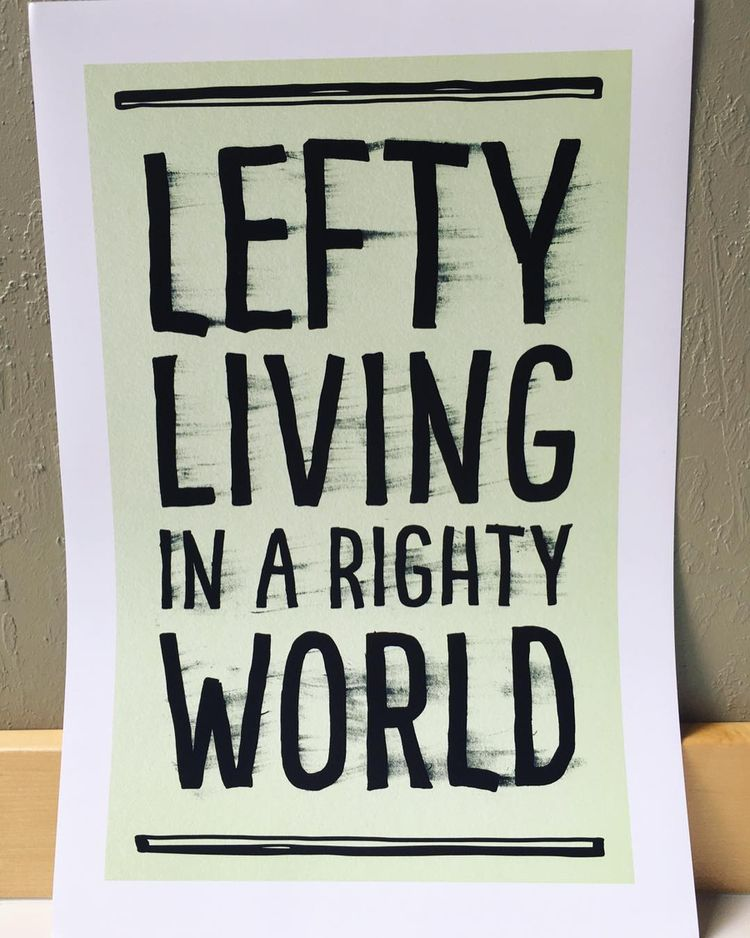 Poster designed lefties - lefty - slubdude | ello